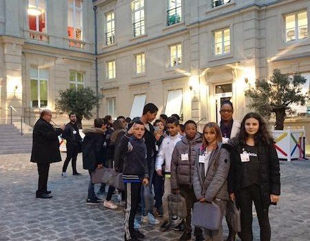 Le collège Maria Callas de Courtry en visite au Googleplex