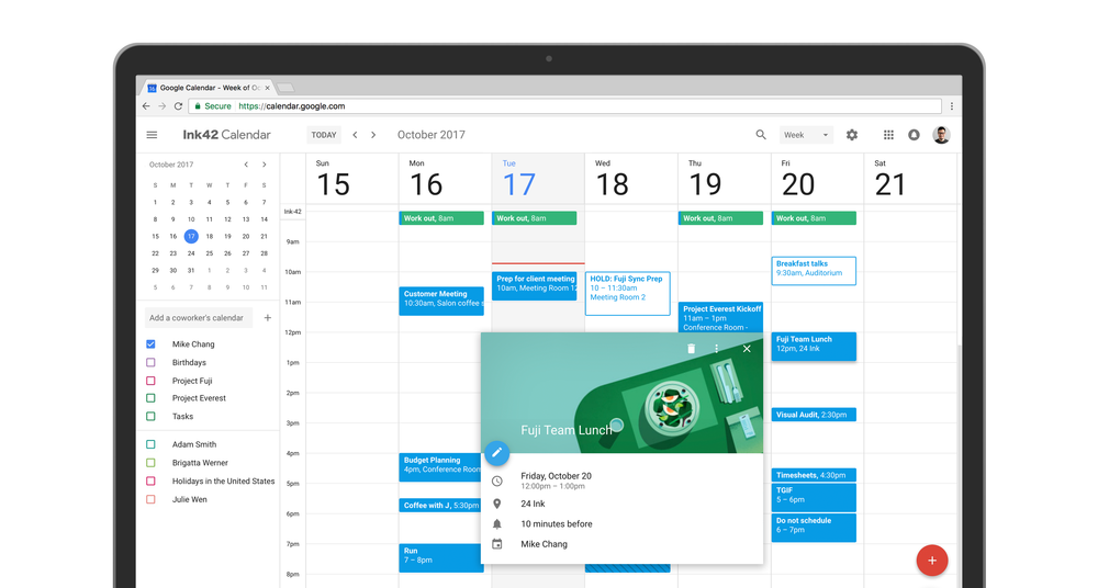 Google Agenda Vue Ensemble