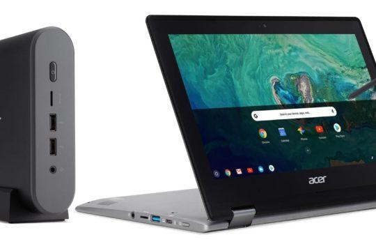 Acer annonce deux nouveaux Chromebooks et une Chromebox