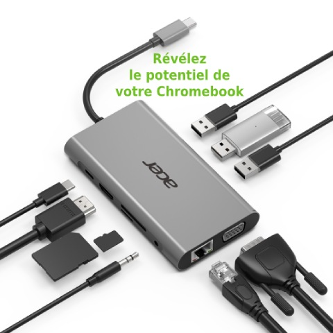 Acer adaptateur USB-C 10-en-1