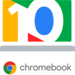 Badge des 10 ans du Chromebook