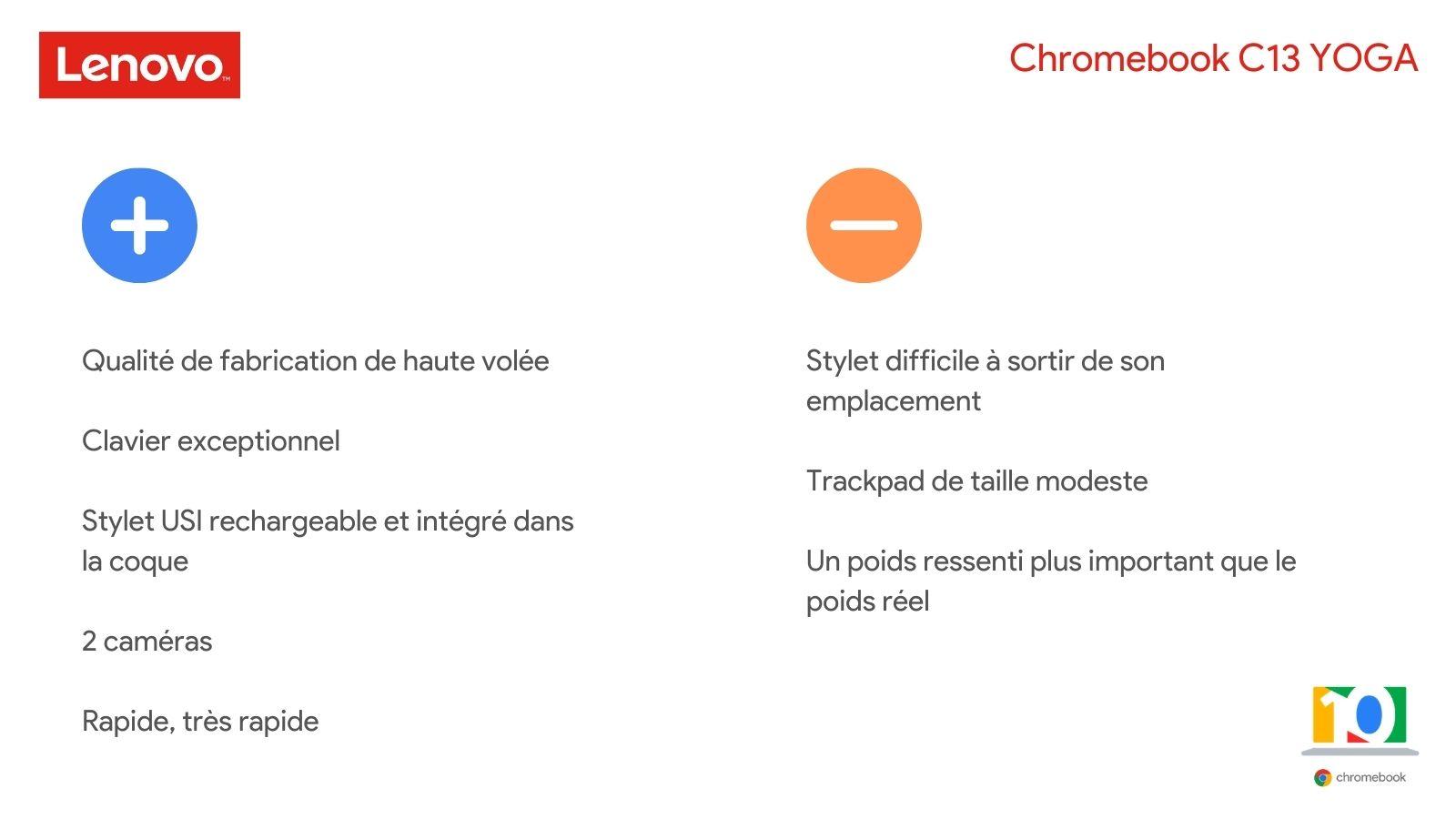 En bref - Test du Chromebook C13 YOGA