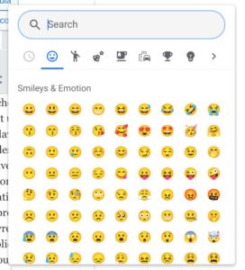 Nouveau sélecteur d'emoji